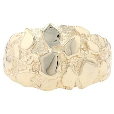 Yellow Gold Men's Ring - 14k Gold Nugget Design
