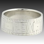 Tiffany & Co. REX Men's Ring - 950 Platinum Mardis Gras Art Deco c.1920's-30's