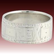 Tiffany & Co. REX Men's Ring - 950 Platinum Mardis Gras Art Deco c.1920's-30's
