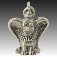 Vintage Dumbo Charm Disney Elephant Cartoon Sterling Silver Keepsake 3D Figurine