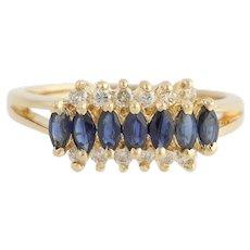 Sapphire & Diamond Ring - 18k Yellow Gold September High Karat Fine 1.09ctw
