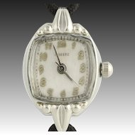 Vintage Harvel Wristwatch - 10k White Gold Filled Quartz Conversion Women's