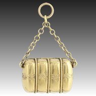 Victorian Era Locket - 15k Yellow Gold Etched Antique Keepsake