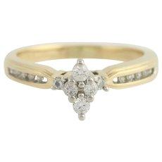 Diamond Engagement Ring - 14k Yellow & White Gold .25ctw