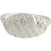 Vintage Diamond Ring - 14k White Gold Women's .10ctw