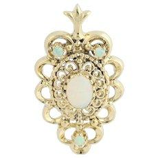 Opal Pendant - 14k Yellow Gold October Birthstone .90ctw