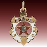 Patriotic Order Sons of America - Vintage Fob Charm