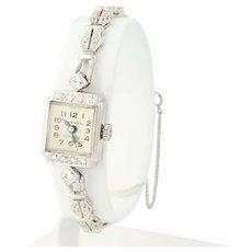 1970s Harvel Diamond Watch - 14k White Gold Ladies Vintage Quartz .64ctw