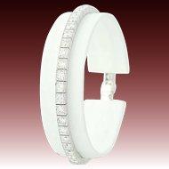 "Art Deco Diamond Bracelet 7"" - Platinum Vintage Link Milgrain Round Cut 7.20ctw"