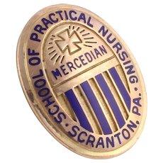 Scranton PA School of Practical Nursing Mercedian Vintage Pin Badge - 10k Gold