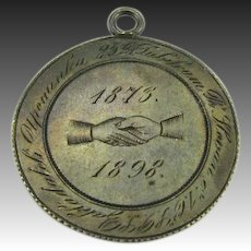 25th Anniversary Medallion - Sterling 1898 Mystery