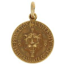 Princeton University Undergraduate Council Pendant - 10k Gold Vintage Charm