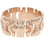 Open Cut Band Ring - 14k Rose Gold Women's Size 5 3/4