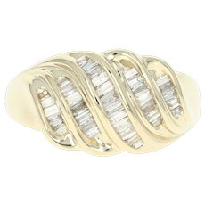 Diamond Ring - 14k Yellow Gold Women's Size 8 Baguette Cut .50ctw