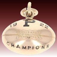 1922 Princeton University Tigers Fob Pendant -14k Gold Team of Destiny Champions