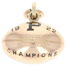 1922 Princeton University Tigers Fob Pendant -14k Gold Team of Destiny Champions