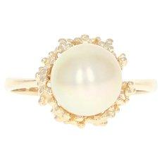 Vintage Diamond Engagement Ring & Wedding Band - 14k Gold Round Brilliant .11ctw