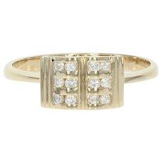 Diamond Ring - 14k Yellow Gold Size 6 1/2 Round Brilliant .18ctw