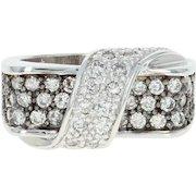 Diamond Ring - 14k White Gold Size 6 3/4 - 7 Round Cut 1.21ctw