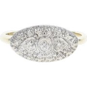 Diamond-Accented Vintage Ring - 10k Yellow Gold Women's Size 6 1/2