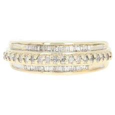 Diamond Ring - 10k Yellow Gold Size 6 3/4 Single Cut .37ctw