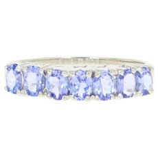 Tanzanite Ring - 10k White Gold Size 7 Oval Brilliant 1.00ctw