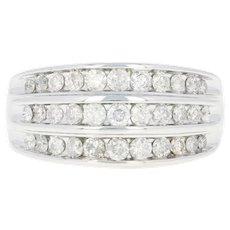 Diamond Ring - 10k White Gold Size 6 3/4 Round Brilliant 1.00ctw