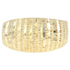 Ribbed Dome Ring - 14k Yellow Gold Textured Women's Size 6 - 6 1/4