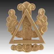 Vintage Polished 1945 Delta Psi Pin - 14k Yellow Gold Vermont Fraternity Badge