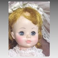 Bride Doll C1963 Madame Alexander Original Mary Ann Character & Clothes Plastic All original Near Mint-VF condition