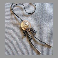 :   Bolo Tie Vintage Beaded Costume Lady's Necklace