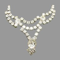 Vintage White Rhinestone Classic Necklace