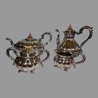 Superb Coffee Tea Set Service George III Sheffield Plate Silver on Copper