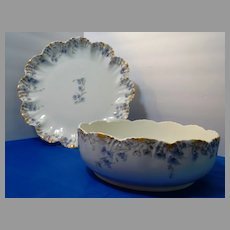 Serving Bowl Serving Platter Limoges Lanternier Antique