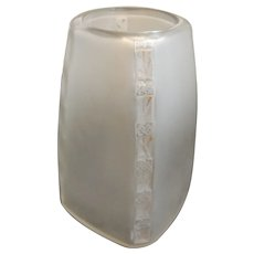 Rene Lalique Art Glass Fleurettes 1919 Pattern Bottle Vase