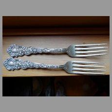 1885 Patent Gorham Sterling Versailles 2 Dinner Forks