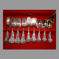 42 Pc Gorham Sterling Silver 1888 Versailles Flatware Antique