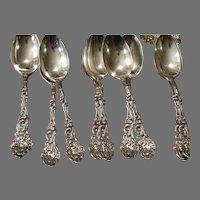 6 teaspoons Old Versailles by Gorham 1888 Sterling Silver Flatware