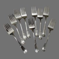 8 Sterling Silver Salad Luncheon Forks Florence Nightingale by Alvin 1919