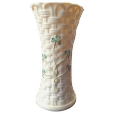 Belleek Vase Irish Shamrock Vase 1st Black Mark