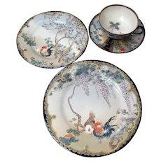 Kozan Satsuma Rare 4Pc Porcelain China Set Historic Wm Jennings Bryan
