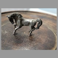 Antique Sterling Silver Cabinet Miniature Horse