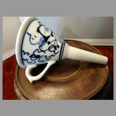 Blue Onion Funnel Antique Porcelain