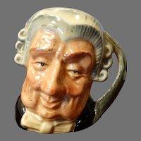 Miniature Toby Mug Royal Doulton The Lawyer 1958