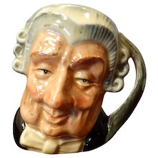 Miniature Toby Mug Royal Doulton The Lawyer 1958