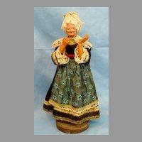 Antique Doll Paper Mache Celluloid  Colonial Lady