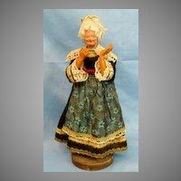 Antique Doll Paper Mache Celluloid  Lady