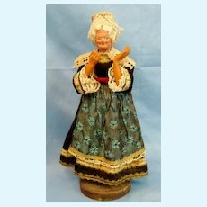 Antique Doll Paper Mache Celluloid  Colonial Lady