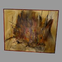Gino Hollander American Abstract Oil on Canvas