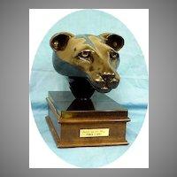 Bronze Sculpture Black Panther Cougar
